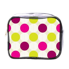 Polka Dots Spots Pattern Seamless Mini Toiletries Bags by Celenk