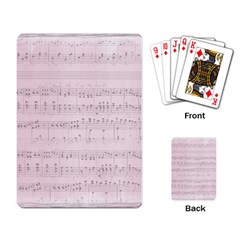 Vintage Pink Music Notes Playing Card by Celenk