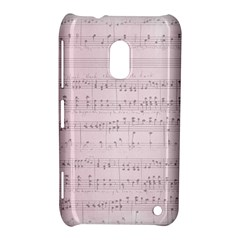 Vintage Pink Music Notes Nokia Lumia 620 by Celenk