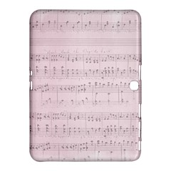 Vintage Pink Music Notes Samsung Galaxy Tab 4 (10 1 ) Hardshell Case  by Celenk