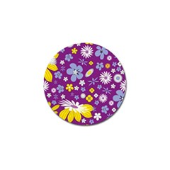Floral Flowers Wallpaper Paper Golf Ball Marker (10 Pack) by Celenk