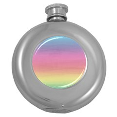 Background Watercolour Design Paint Round Hip Flask (5 Oz) by Celenk