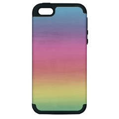 Background Watercolour Design Paint Apple Iphone 5 Hardshell Case (pc+silicone)