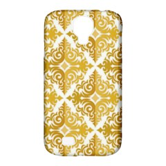 Gold Pattern Wallpaper Fleur Samsung Galaxy S4 Classic Hardshell Case (pc+silicone) by Celenk