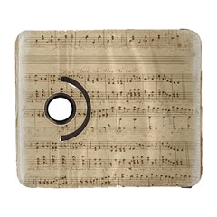 Vintage Beige Music Notes Galaxy S3 (flip/folio) by Celenk