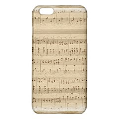Vintage Beige Music Notes Iphone 6 Plus/6s Plus Tpu Case by Celenk