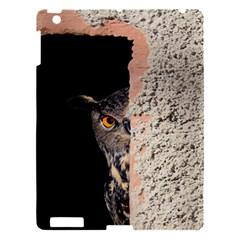 Owl Hiding Peeking Peeping Peek Apple Ipad 3/4 Hardshell Case by Celenk