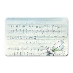 Vintage Blue Music Notes Magnet (rectangular) by Celenk