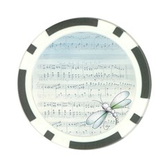 Vintage Blue Music Notes Poker Chip Card Guard (10 Pack) by Celenk
