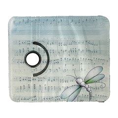 Vintage Blue Music Notes Galaxy S3 (flip/folio) by Celenk