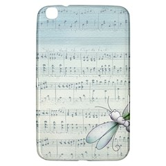 Vintage Blue Music Notes Samsung Galaxy Tab 3 (8 ) T3100 Hardshell Case  by Celenk