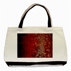 Pattern Backgrounds Abstract Red Basic Tote Bag by Celenk