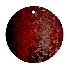Pattern Backgrounds Abstract Red Round Ornament (two Sides) by Celenk