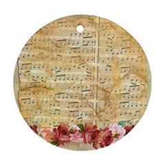 Background Old Parchment Musical Ornament (round) by Celenk