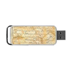 Background Old Parchment Musical Portable Usb Flash (two Sides) by Celenk