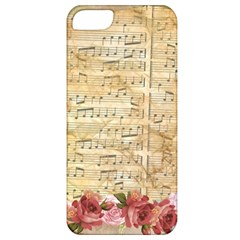 Background Old Parchment Musical Apple Iphone 5 Classic Hardshell Case by Celenk