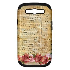 Background Old Parchment Musical Samsung Galaxy S Iii Hardshell Case (pc+silicone) by Celenk