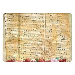 Background Old Parchment Musical Samsung Galaxy Tab 10 1  P7500 Flip Case by Celenk
