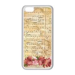 Background Old Parchment Musical Apple Iphone 5c Seamless Case (white) by Celenk