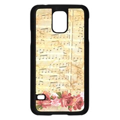 Background Old Parchment Musical Samsung Galaxy S5 Case (black)
