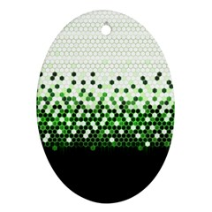 Tech Camouflage 2 Oval Ornament (two Sides) by jumpercat