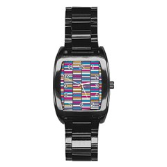 Color Grid 01 Stainless Steel Barrel Watch by jumpercat