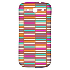 Color Grid 02 Samsung Galaxy S3 S Iii Classic Hardshell Back Case by jumpercat