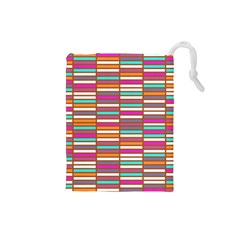 Color Grid 02 Drawstring Pouches (small)  by jumpercat