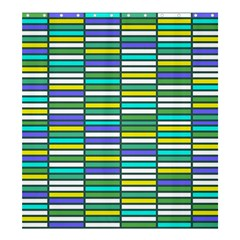 Color Grid 03 Shower Curtain 66  X 72  (large)  by jumpercat
