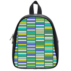 Color Grid 03 School Bag (small) by jumpercat