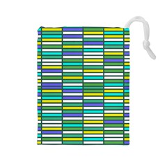 Color Grid 03 Drawstring Pouches (large)  by jumpercat