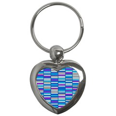 Color Grid 04 Key Chains (heart)  by jumpercat