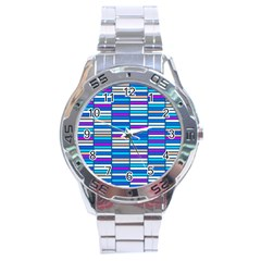 Color Grid 04 Stainless Steel Analogue Watch by jumpercat