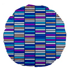 Color Grid 04 Large 18  Premium Flano Round Cushions by jumpercat
