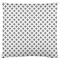 Black Cross Large Flano Cushion Case (two Sides) by jumpercat