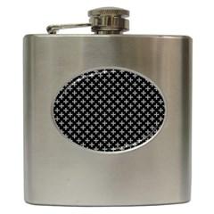 White Cross Hip Flask (6 Oz) by jumpercat