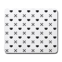 Black Pixel Skull Pirate Large Mousepads