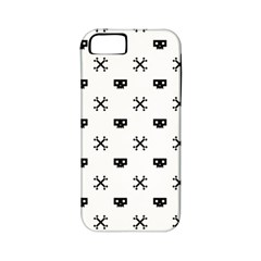 Black Pixel Skull Pirate Apple Iphone 5 Classic Hardshell Case (pc+silicone) by jumpercat