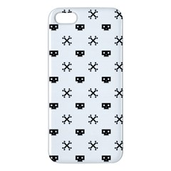 Black Pixel Skull Pirate Iphone 5s/ Se Premium Hardshell Case by jumpercat