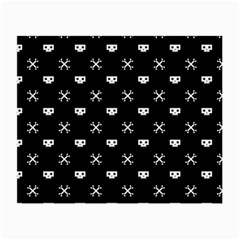 White Pixel Skull Pirate Small Glasses Cloth (2 Side) by jumpercat