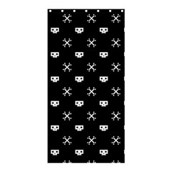 White Pixel Skull Pirate Shower Curtain 36  X 72  (stall)  by jumpercat