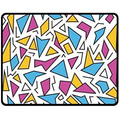 Retro Shapes 01 Fleece Blanket (medium)  by jumpercat
