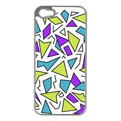 Retro Shapes 02 Apple Iphone 5 Case (silver) by jumpercat