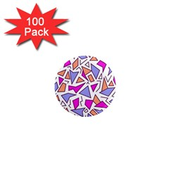 Retro Shapes 03 1  Mini Magnets (100 Pack)  by jumpercat