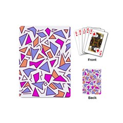 Retro Shapes 03 Playing Cards (mini)  by jumpercat
