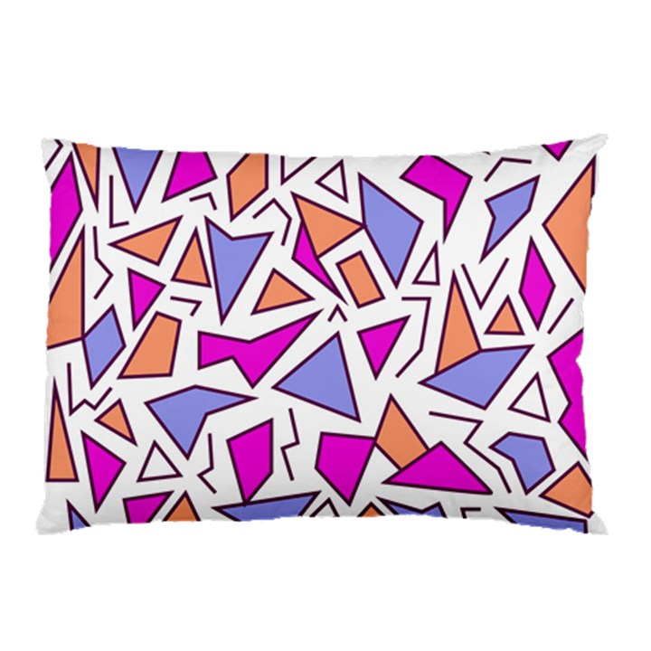 Retro Shapes 03 Pillow Case (Two Sides)