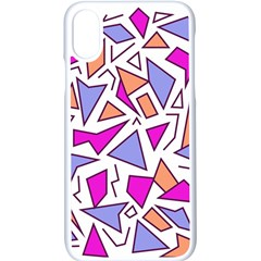 Retro Shapes 03 Apple Iphone X Seamless Case (white) by jumpercat
