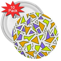 Retro Shapes 04 3  Buttons (10 Pack)  by jumpercat