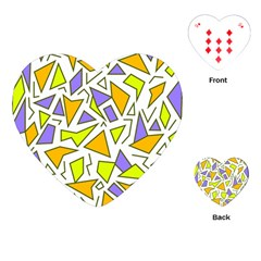 Retro Shapes 04 Playing Cards (heart)  by jumpercat