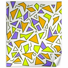 Retro Shapes 04 Canvas 8  X 10  by jumpercat